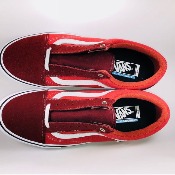 b1ebdefcdf1c74 Vans Old Skool Pro Two Tone Madder Brown Sneakers